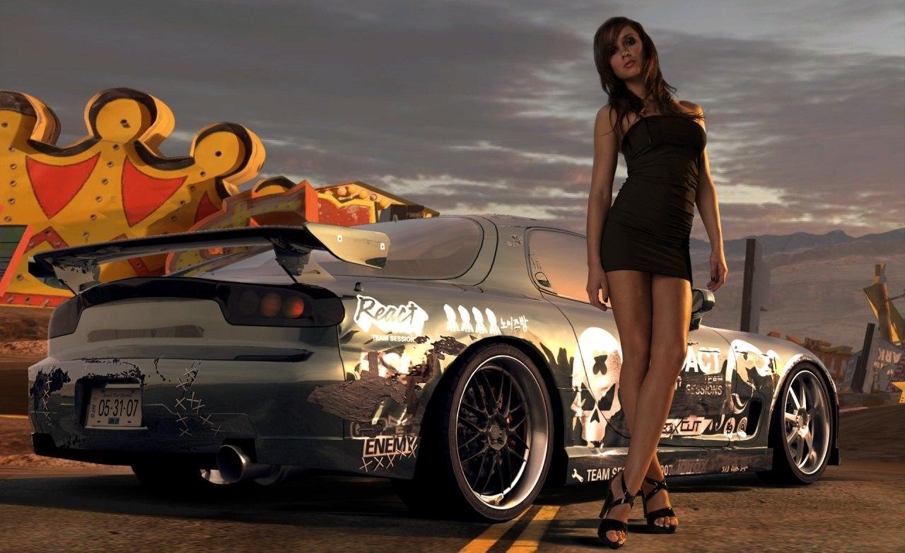 Тюнингованные машины девушками фото